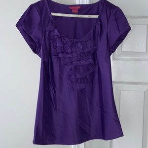 SUNNY LEIGH Purple blouse -size S
